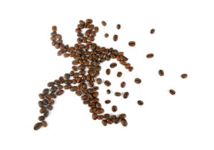 Coffee Beans in form of a Running Man