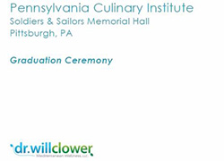 PA Culinary Institute Graduation Ceremony Keynot Speaker Dr. Will Clower
